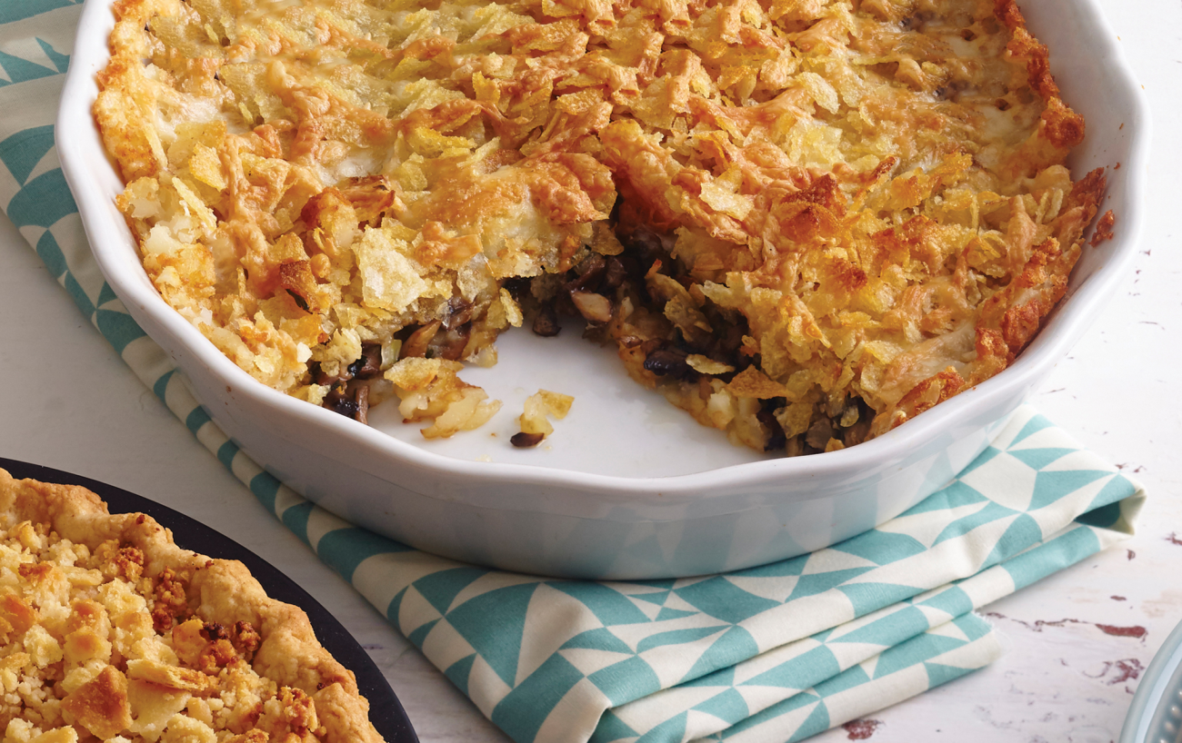 Recipe for Tater-Crusted Cheese and Mushroom Pie