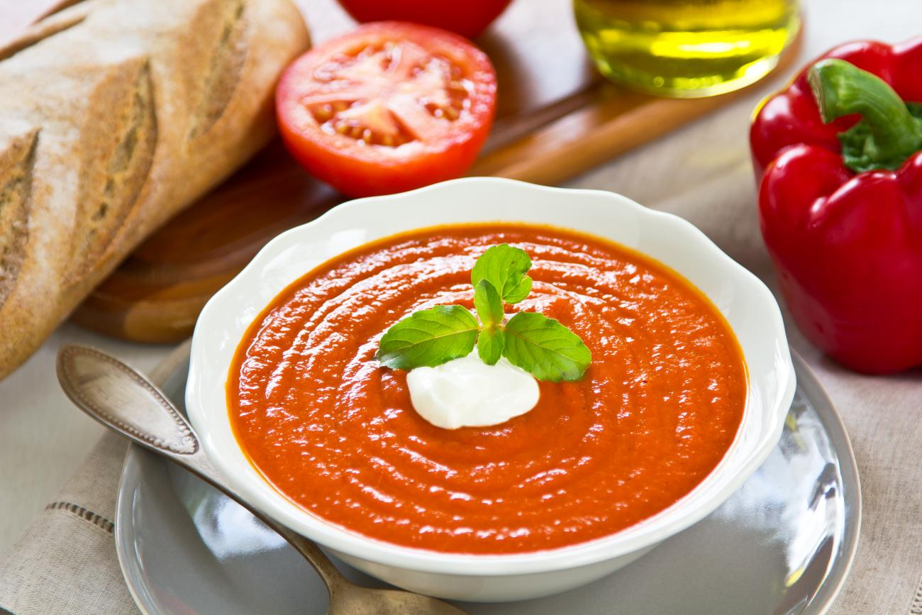 Recipe for Tomato and Sweet Pepper Soup