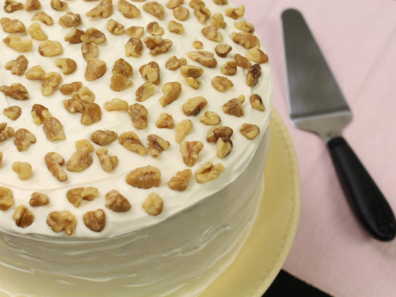 Recipe for Maple-Walnut Layer Cake with Easy Maple Frosting