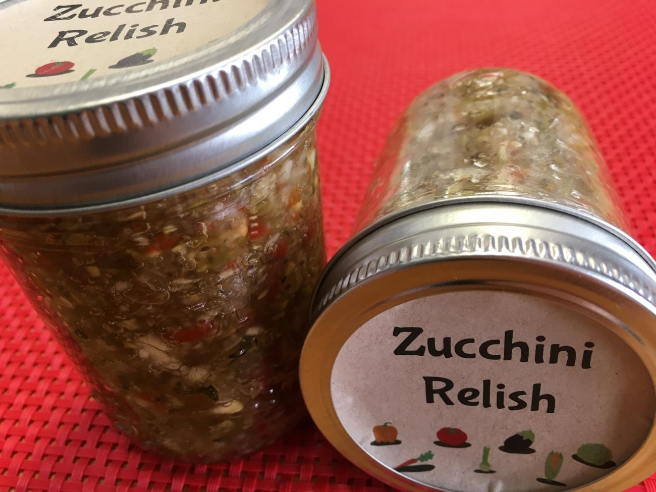 Recipe for Zucchini Relish