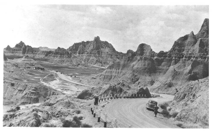 Badlands National Park, 1950s. Photo courtesy of the National Parks Service.