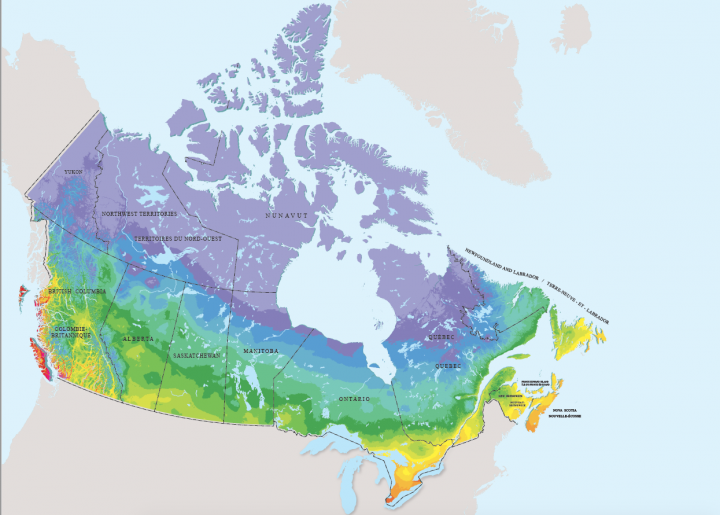 Planting Zones For The US And Canada The Old Farmers Almanac - Map of us and canada