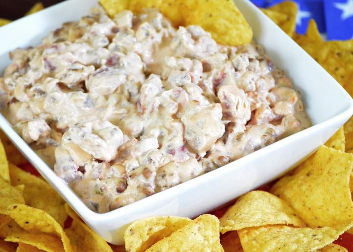 Cheese sausage dip. Photo by Margo Letourneau.