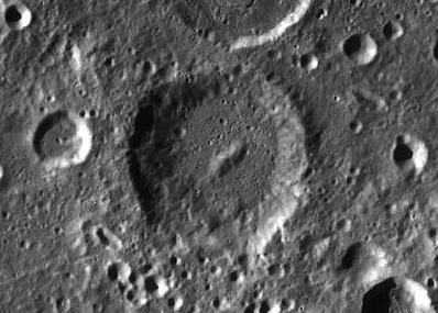 "The lunar crater ""Ramsay"", named after scientist William Ramsay."