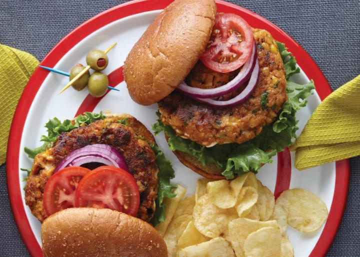 Southwestern pumpkin burgers. Photo by Becky Luigart-Stayner.