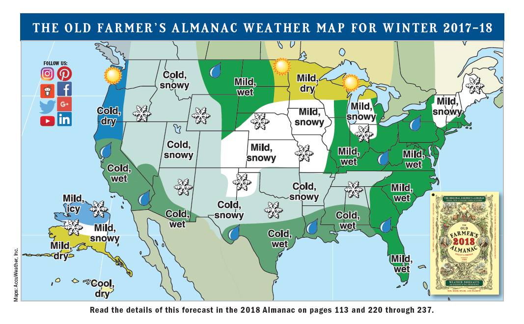 2018 Winter Weather Forecast | Old Farmer\'s Almanac