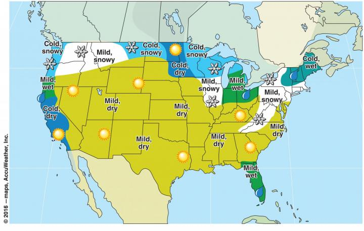 Winter Weather Forecast Winter Weather US And Canada - Januaray temperatures us map