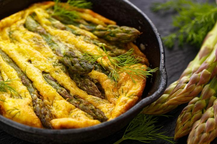 Asparagus Frittata. Photo by zi3000/Shutterstock.