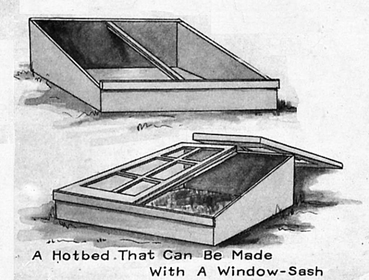 Cold frames and hot beds