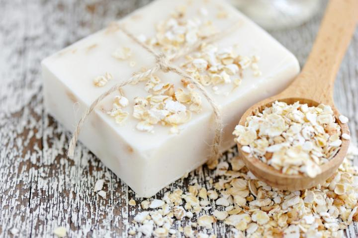 Oatmeal soap. Photo by Natalia Malnychuk/Shutterstock