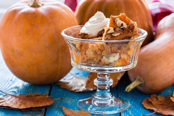 Pumpkin Bread Pudding. Photo by Istetiana/Shutterstock.