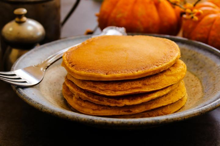 pumpkin pancakes. Photo by Shutterstock.