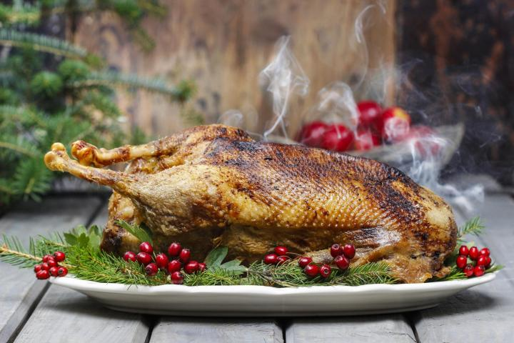 Roast goose. Photo by Agnes Kantaruk/Shutterstock