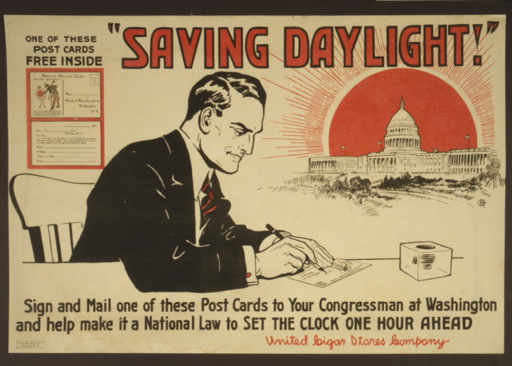 WWI-era Daylight Saving Postcard