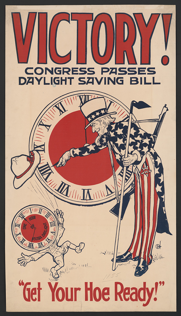 Daylight Saving WWI-era poster