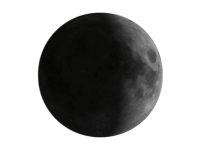 Image of waxing crescent moon