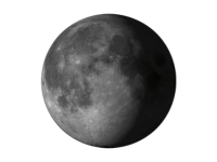 Image of waning gibbous moon
