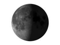 Image of last quarter moon