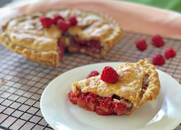 Raspberry-Rhubarb Pie. Photo by Sam Jones/Quinn Brein