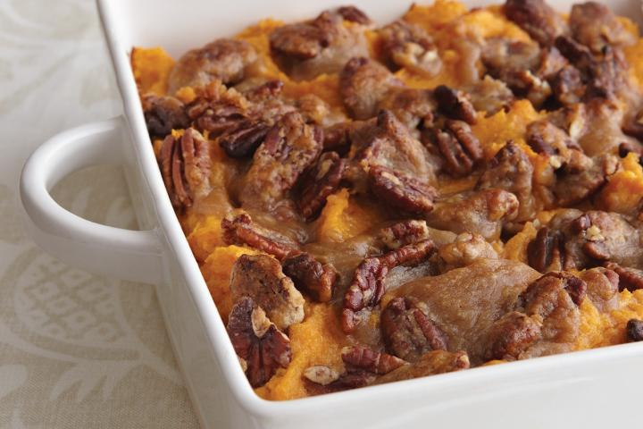 Pecan-Crusted Sweet Potato Casserole. Photo by Becky Luigart-Stayner
