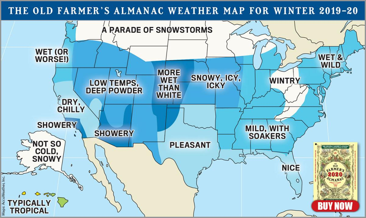 Signs Of A Bad Winter 2019 2020.Official 2019 2020 Winter Forecast The Old Farmer S Almanac