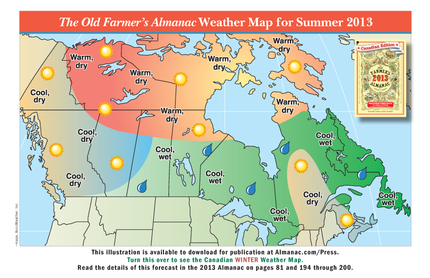 The Weather Of Canada Map