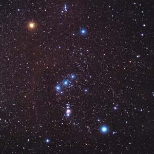 The two stars north of this are orion s shoulders one of these is