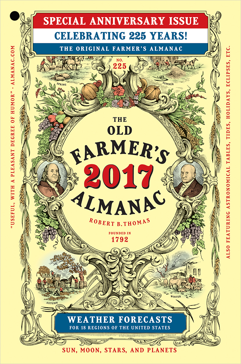 The 2017 old farmer 39 s almanac the old farmer 39 s almanac for Farmers almanac fishing calendar