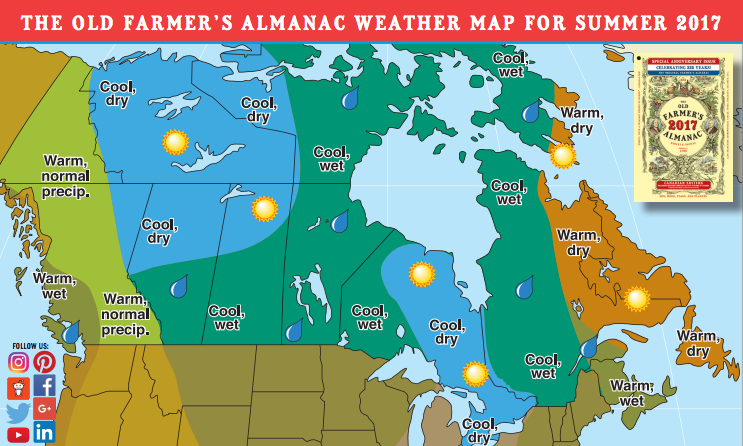 Canada 39 s summer outlook for 2017 old farmer 39 s almanac for Farmers almanac fishing calendar