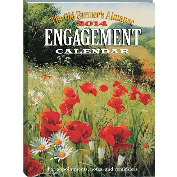 March into spring 2014 engagement calendar the old for Farmers almanac fishing calendar