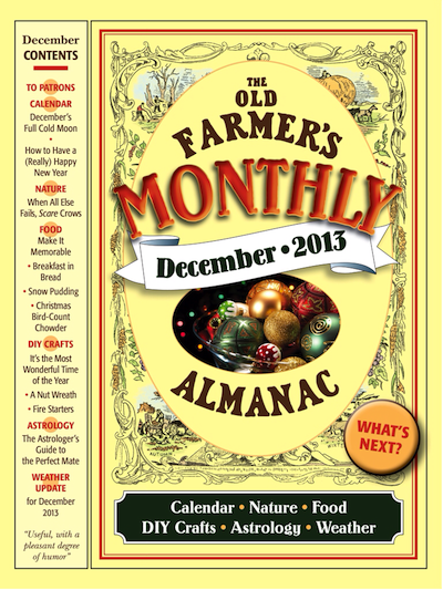 December monthly ofa five fascinating facts the old for Farmers almanac fishing calendar