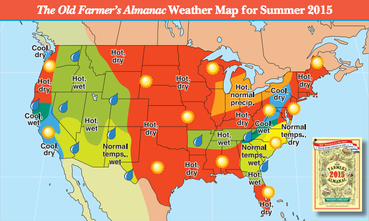 Summer weather forecast 2015 the old farmer 39 s almanac for Farmers almanac for fishing