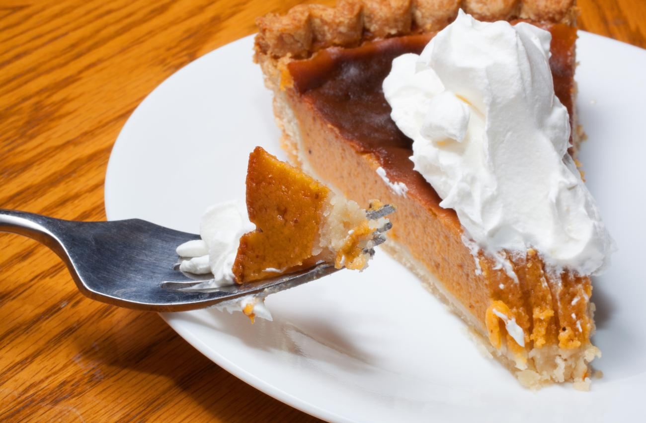 sweet potato pie with whipped cream