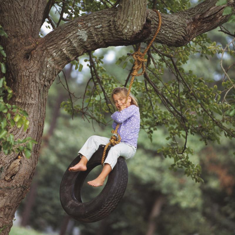 Extra: Girl on tire swing - Trees