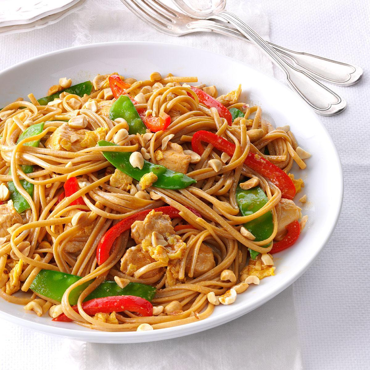 Thai Chicken With Linguine Recipe