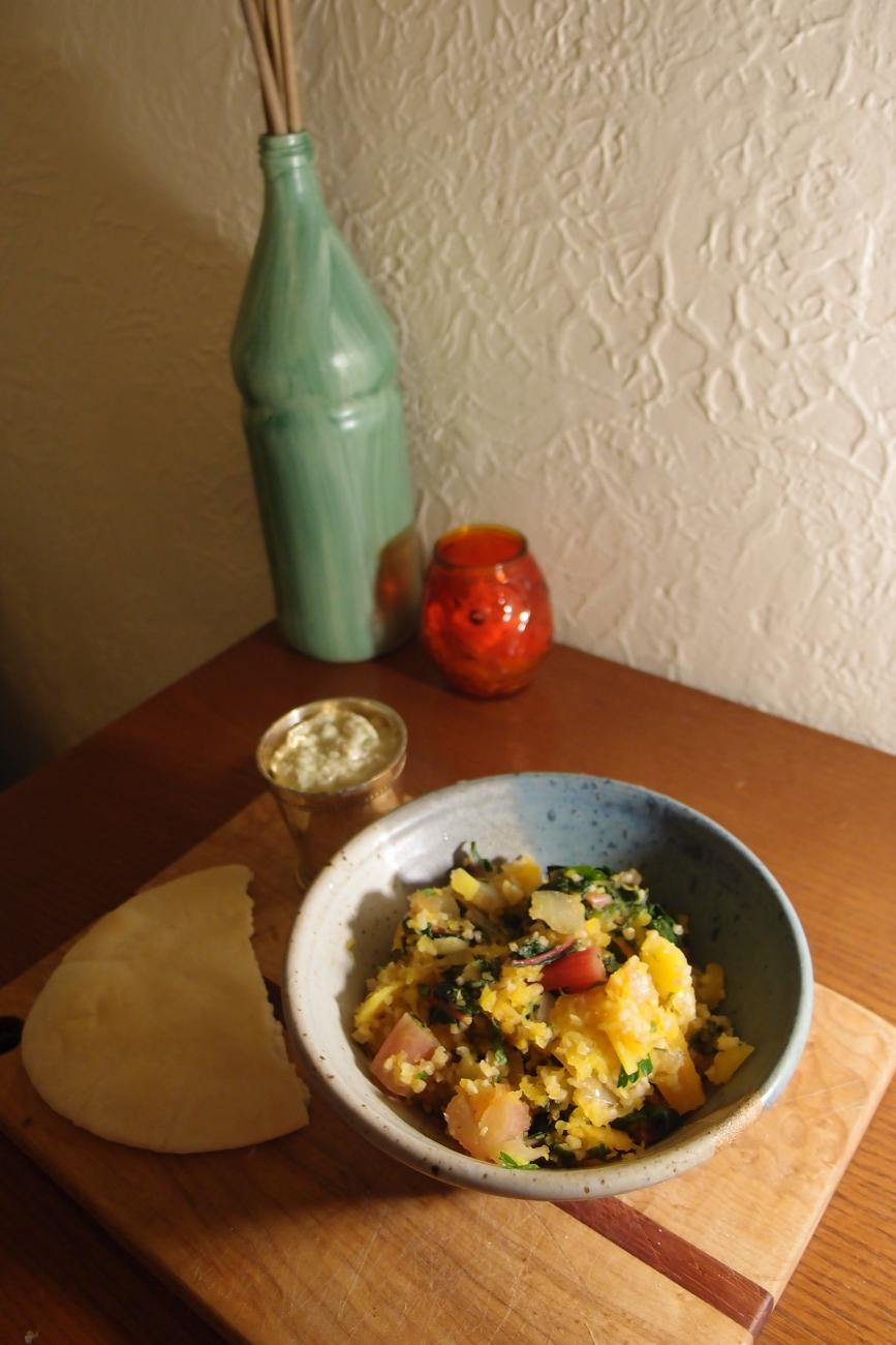 Bulgur with Butternut Squash and Chard