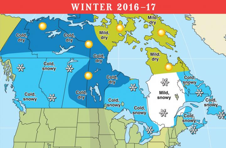 2016 2017 long range weather forecast for u s and canada for Farmer s almanac 2017 winter forecast