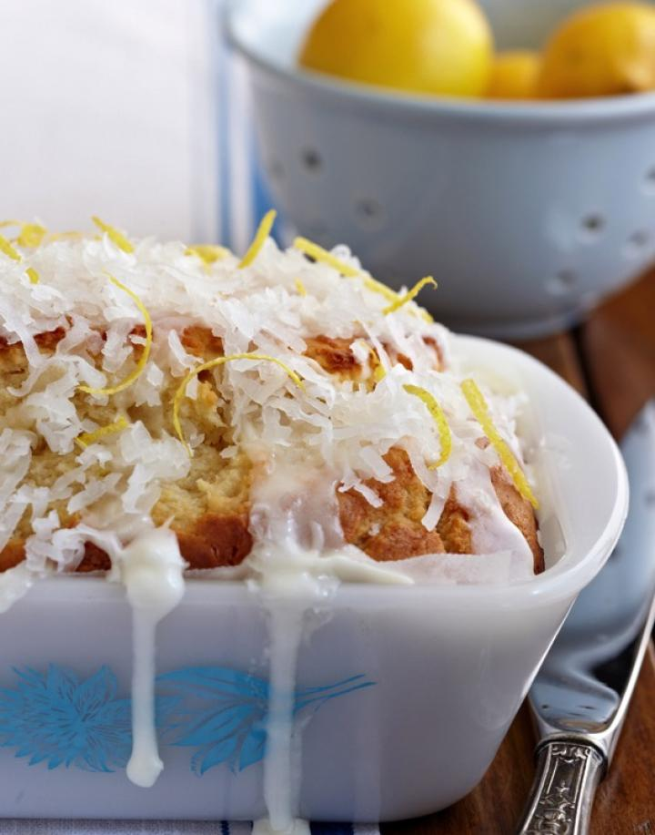 Glazed Lemon Coconut Loaf for Easter