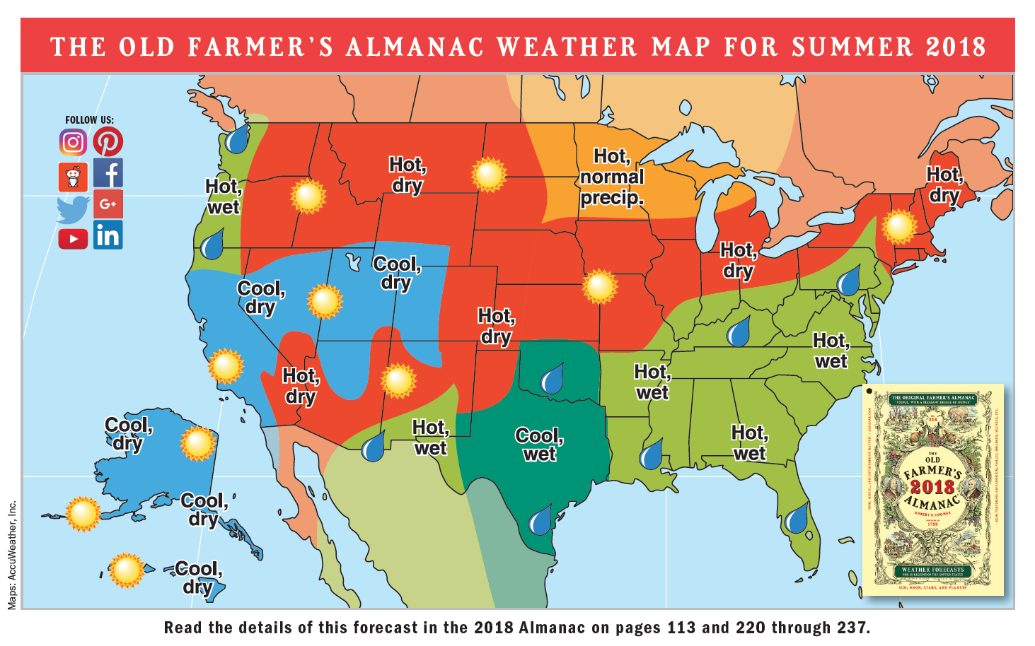 2018 Summer Weather Forecast U S Canada The Old